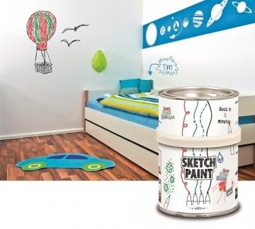 Маркерная краска SketchPaint белый глянец 0,5 литров KIT (набор)